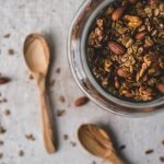 This Homemade Granola is such a delicious morning treat for breakfast! It's vegan, gluten-free, and super easy to make! #granolarecipe #vegan #glutenfree #breakfast