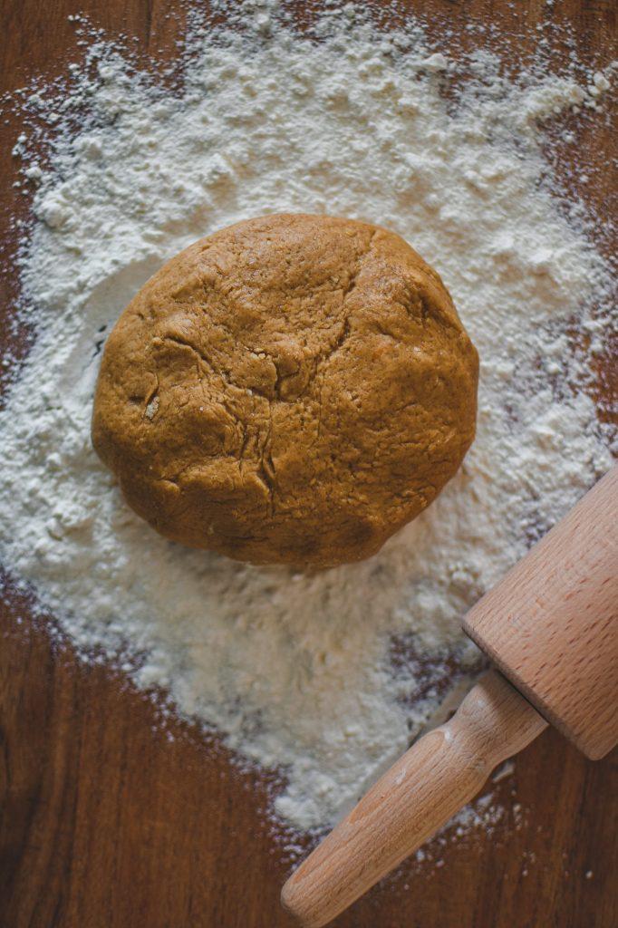 Christmas Baking with ginger spices dough.#christmasbaking #vegancookies #gingerrecipes | ginger cookies recipe Christmas | vegan cookies recipes egg free | vegan cookies recipes easy