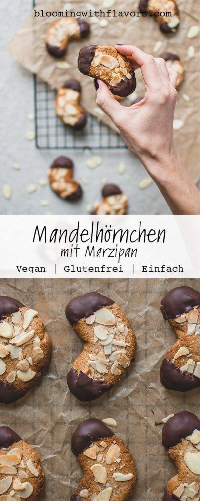 Hier gibt es ein super einfaches und sehr leckeres Rezept für feine Mandelhörnchen mit Marzipan - perfekt um sich auf die Weihnachtszeit einzustimmen. Macht sich auch prima als Geschenk! #Mandelhörnchen #Weihnachtsplätzchen #Gebäck