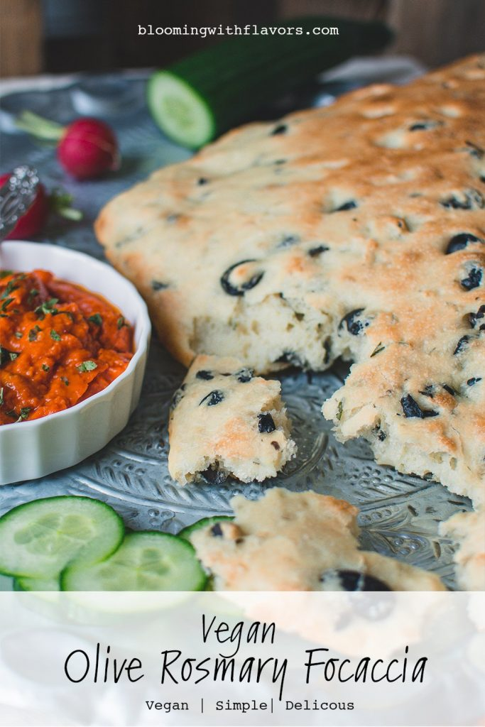 Vegan Olive Rosemary Focaccia Recipe This easy herbed Focaccia Bread with olives and rosemary is such a simple recipe, but the flavor is delicious! This quick vegan focaccia bread is light, airy, and moisture and tastes great on its own, with butter or other spreads. #sidedish #bread #italianfood #baking #veganrecipes #veganbaking focaccia bread recipe focaccia bread easy focaccia bread Italian focaccia bread sandwich focaccia bread appetisers focaccia bread rosemary focaccia bread vegan focaccia bread quick focaccia bread ideas focaccia bread olive