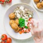 Falafel Quinoa Salad Bowl Vegan
