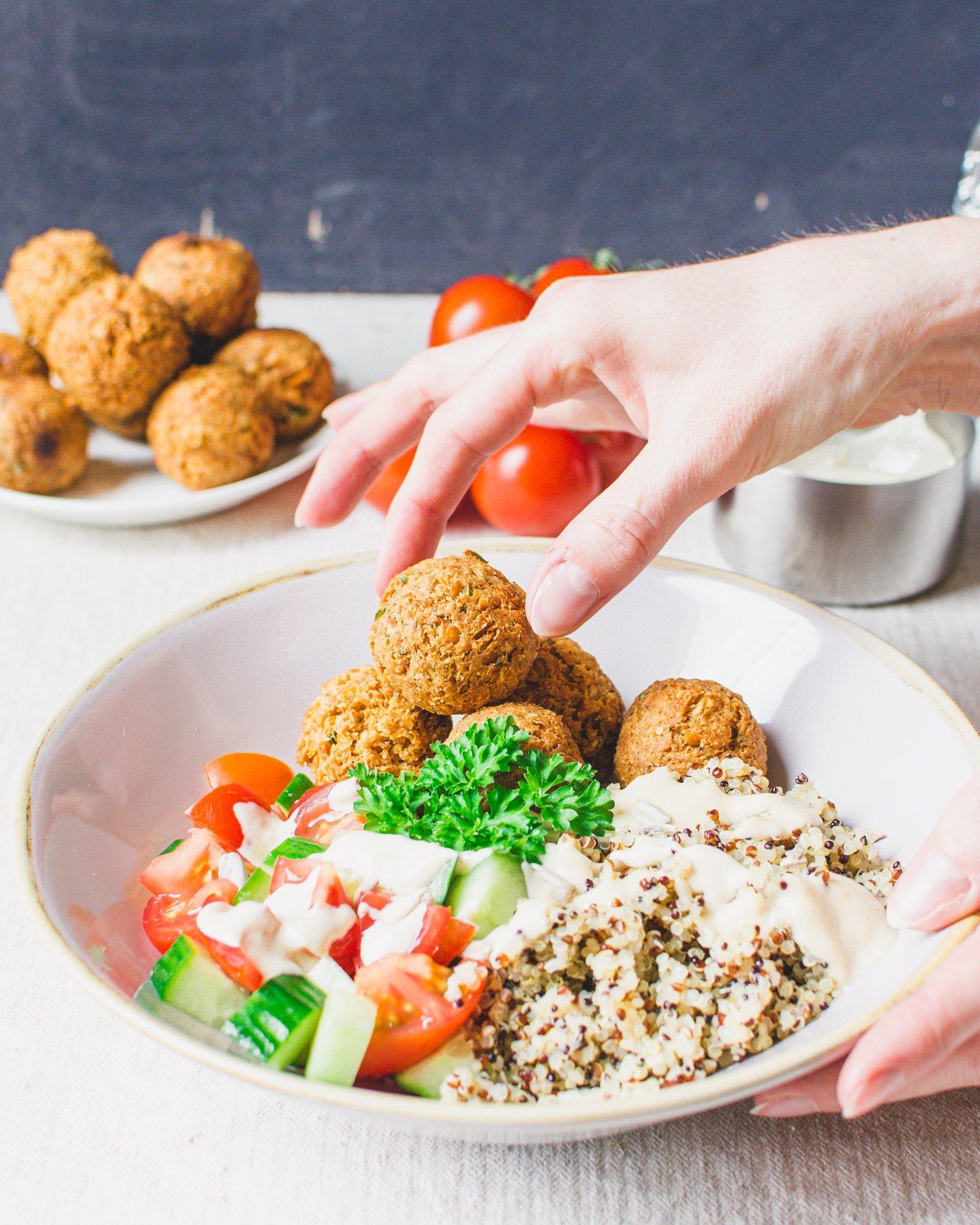 Falafel Quinoa Salad Bowl