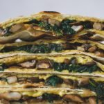 This vegan quesadilla recipe is easy to make, plant-based, and dairy-free. You can eat those savoury quesadillas as main dish or finger food. Filled with spinach, mushrooms and vegan cheese, they are full of flavour and filling. #veganquesadillas #quesadillas #vegandinner