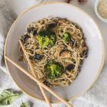 This vegan mie noodles recipe is whipped up in less than 20 minutes! The perfect lunch or dinner - quick, easy, and delicious!