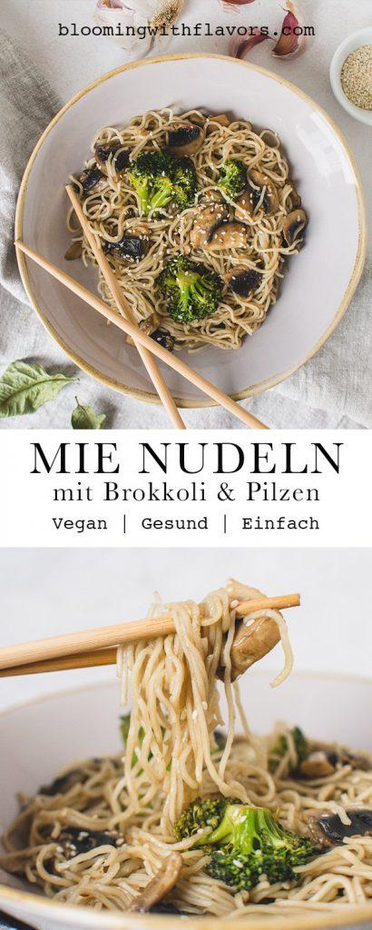 Vegane Mie Nudeln - Fertig in weniger als 20 Minuten! Das perfekte Mittag- oder Abendessen - schnell, einfach und lecker!