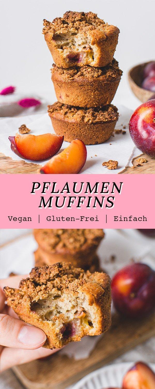 Gesunde Pflaumen Muffins mit Streuseln