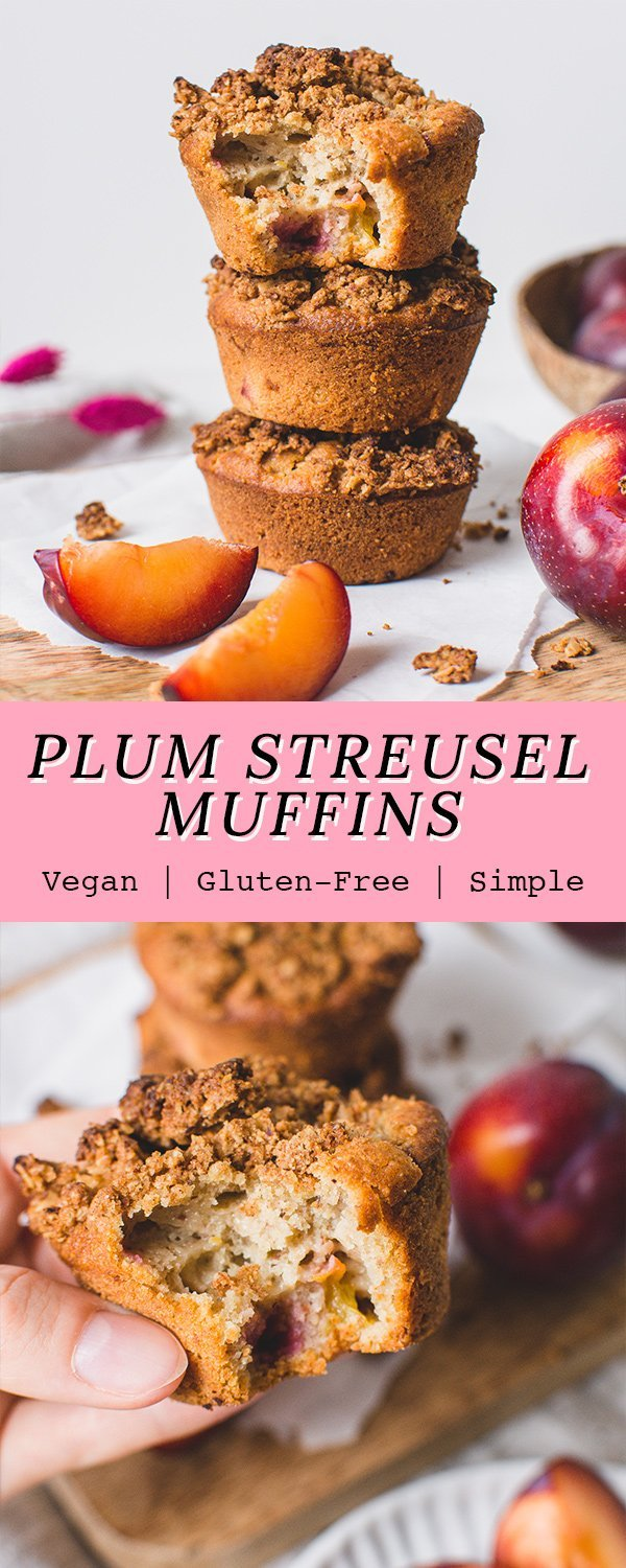 Plum Muffins with Cinnamon Ginger Streusel