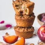 Pflaumen Muffins - Vegan & Gesund